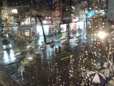 Saigon a rainy day, view from Zen Plaza