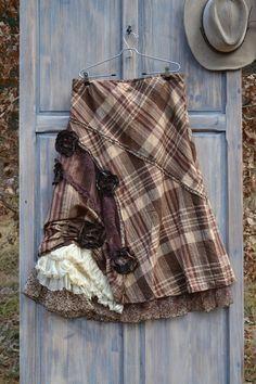 Festival folk maxi skirt, XL XXL #Boho #upcycled #skirt #gypsy #folk #bohemian #clothing #fashion #women #refashioned