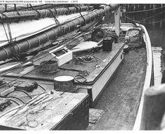 "Deck detail of Grand Bank fishing schooner ""Bluenose"" anchored at Lunenburg"