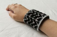A boho chic woven leather cuff by NoctuaryArt on Etsy, Leather Cuffs, Fingerless Gloves, Arm Warmers, Boho Chic, I Shop, Weaving, Etsy Seller, Pattern, Crafts