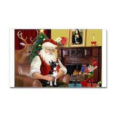 Even Santa loves Boston Terriers...