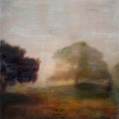 """Artist: Ann Gordon. Encaustic and mixed media, 70x70cm. Painting: """"I know the way"""", Queens Park"""