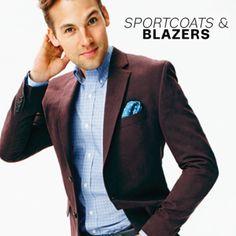 MAB Burgundy blazer with checked trousers | Burgundy Sports Jacket ...
