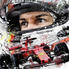 """Sebastian by Looking forward to his art for the ! Aryton Senna, Italian Grand Prix, Formula 1 Car, Michael Schumacher, Ferrari F1, F1 Drivers, Motorcycle Art, Automotive Art, F1 Racing"