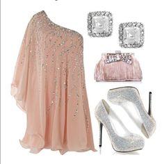 Silver Glitter Stiletto Pump