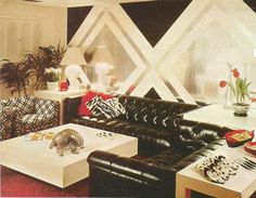 Vintage Home Decor, 1970s Rooms Repinned by Temple Towels, www.templetowels.com