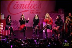 Fifth Harmony Hit Up Z100's Jingle Ball After Candie's Winter Bash Concert - See All The Pics!: Photo #905202. Fifth Harmony raise their arms for a group bow after performing at Z100's Jingle Ball 2015 held at Madison Square Garden on Friday night (December 11) in New York…