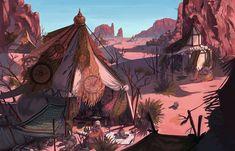 Alchemist's tent, Aji Park on ArtStation at https://www.artstation.com/artwork/85LdR