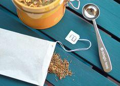 Filtros de Papel y Cuchara Medida Perfecta // Disfrute de un té a granel en cualquier lugar – bolsitas de té desechables y fáciles de usar. Spoons, Tea Pots, Sachets, Paper Envelopes
