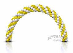 ARCO oro BIANCO con 150 palloncini LATTICE matrimonio PARTY compleanno FESTA | eBay