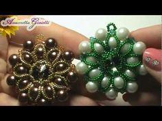 Tutorial - Ciondolo a tutto perle - peyote - YouTube