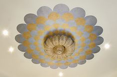 Scalloped Metallic Pattern on Ceiling | Modern Masters Metallic Paint Collection | Project by Decorative & Faux Finishes