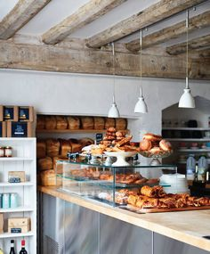 Pump Street Bakery in Orford, England is one you won't want to miss reading about. Check out all the details of this bakery in our British Issue, out now! Bakery Decor, Bakery Interior, Bakery Cafe, Restaurant Interior Design, Shop Interior Design, Bakery Ideas, Bakery Shops, Bakery Shop Design, Coffee Shop Design