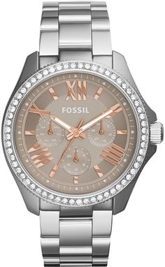 Montre pour femme : Fossil Women's Cecile Stainless Steel Bracelet Watch – Women's Watches – Jewelry & Watches – Macy's Branded Watches For Girls, Watches For Men, Cheap Watches, Stylish Watches, Luxury Watches, Stainless Steel Watch, Stainless Steel Bracelet, Fossil Watches, Women's Watches