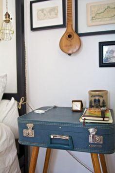 i'm a little obsessed with vintage suitcases and the many purposes they can serve