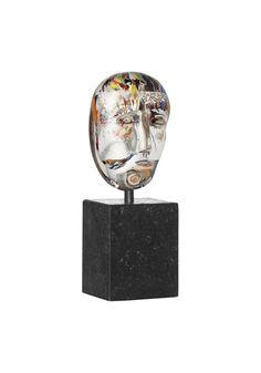 """Limited art glass """"Brains Thinker"""" by Bertil Vallien for Kosta Boda"""