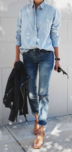 Long Over Due- Our Denim On Denim Trend File - Outfits And Ideas