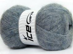 Blue Grey Angora Yarn, Melange Blue angora blend yarn, 70% Angora yarn, 568 yards per skein, Ice Yarns Classic Angora Yarn # 35684 - pinned by pin4etsy.com