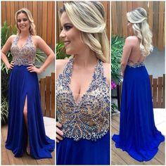 vestido azul madrinha