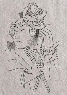 japanese tattoos meaning Japanese Flower Tattoo, Japanese Tattoo Designs, Japanese Sleeve Tattoos, Tengu Tattoo, Samurai Tattoo, Japanese Art Prints, Japanese Drawings, Tatuaje Tengu, Blackwork