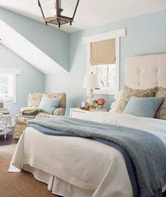 Blue & Tan Bedroom Interior Design | Beach House DecoratingBeach House Decorating by KEAPAP