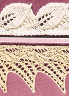 2 Lace edges. See the next pin for the explanation