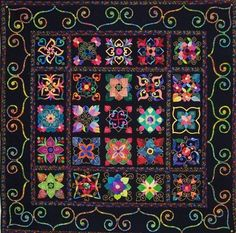 Beautiful applique and fabric selection