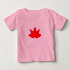 #Kids little tshirt with Lotus Flower Red - #giftideas for #kids #babies #children #gifts #giftidea
