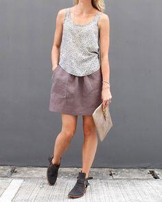Basics. Pocket Skirt WOMENS PDF pattern and by CaliFayeCollection