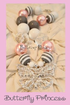 Little Girls Chunky Bubblegum Beaded Necklace  por ButtercupBling, $25.00
