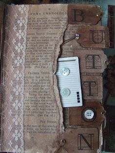 Yours Artfully: Old Altered Book