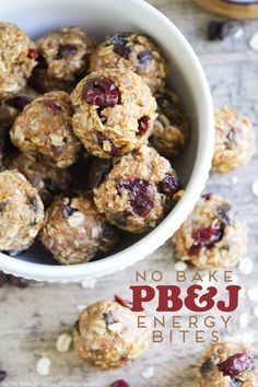 These No Bake Peanut Butter and Jelly Energy Bites are simply delicious!