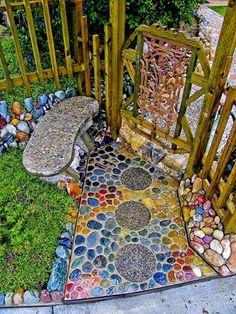Mosaic in the garden