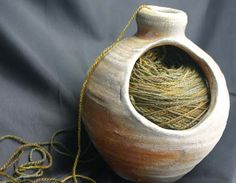 Knitting Jar. I want one of these..
