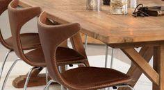 Dan-Form Taurus stol - Veldig fine i skinn - kr Dining Chairs, Dining Room, Taurus, Dan, Furniture, Design, Home Decor, Decoration Home, Room Decor