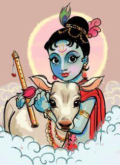 JESSICA BORUTSKI Little Krishna, Baby Krishna, Cute Krishna, Krishna Radha, Krishna Drawing, Krishna Painting, Lord Krishna Wallpapers, Radha Krishna Wallpaper, Shiva Art