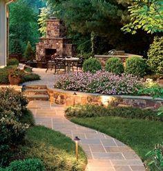 Image result for designs for narrow gardens