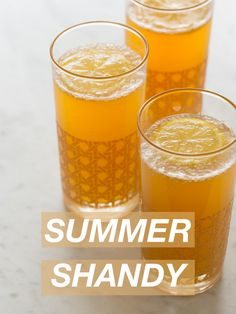 Summer Shandy...These are GREAT! Nice and light on a summery evening...give it a try!