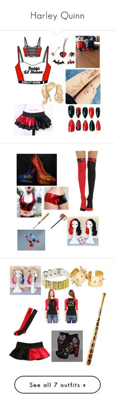"""Harley Quinn"" by jason-becz ❤ liked on Polyvore featuring L'Agent By Agent Provocateur, Topshop, John Lewis and Converse"