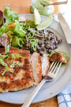 Crispy Mexican Pork Milanesa by ¡Hola! Jalapeño blog. These are a the crispiest breaded pork tenderloin made with boneless pork chops, pounded thin and then coated in flour, egg, and Panko breadcrumbs. Get the step-by-step on how to pound out and tenderize your own pork chops or buy them already pounded out. Learn more about this delicious dinner and how to make it at home on holajalapeno.com #milanesa #pork #schnitzel #milanese