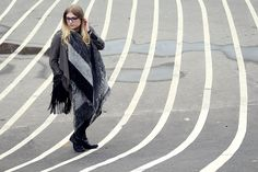New #Outfit with Maxi Scarf and All Black Shooted at #Superkilen Norrebro, #Copenhagen