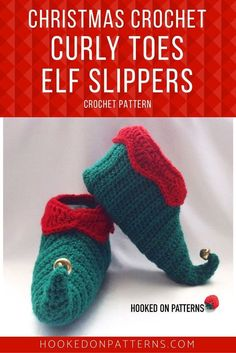 Elf Slipper Shoes Crochet Pattern from Hooked On Patterns. Fun Elf style slippers for all of the family! The pattern includes sizes from toddler up to Xlarge Mens. Crochet Shoes Pattern, Modern Crochet Patterns, Christmas Crochet Patterns, Holiday Crochet, Crochet Designs, Crochet Ornaments, Crochet Snowflakes, Love Crochet, Crochet Gifts