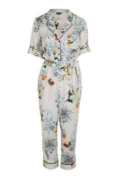 Oriental Print Jumpsuit