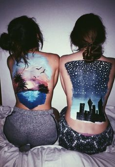 Body Art Bold Body Painting Art Ideas To Try; Body Paining Artistico Espalda Bold Body Painting Art Ideas To Try; Photographie Art Corps, Anatomy Sketch, Paintings Tumblr, Body Paintings, Girl Faces, Body Art Photography, Back Art, Art Thou, Looks Cool