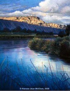 "Pastel Artists International: ""34 Road Canal"" Original Colorado Landscape Pastel Painting by Colorado Artist Nancee Jean Busse"