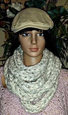 """This Chunky Infinity Scarf will quickly become your favorite, winter """"go to"""" accessory. Quick and easy, you can Crochet this pattern in less than 2 hours as the bulky yarn and hook make this pattern a win-win.  -Pattern Size: One size fits most  -Skill Level: Beginner  -Yarn needed: Pattern includes yarn suggestion Crochet Gifts, Crochet Hooks, Crochet Infinity Scarf Pattern, Stitch Patterns, Crochet Patterns, Chunky Infinity Scarves, Crochet For Beginners, Winter, Easy"""