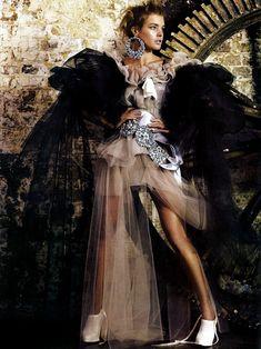 Mario Testino and Natalia Vodianova for Vogue UK.