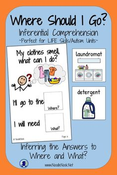 Adapted Book: Where Should I Go? Inferential Comprehension with visual supports. Perfect for Life Skills or Autism Units.