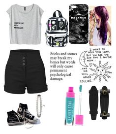 """""""Untitled #254"""" by kyleruniverse on Polyvore featuring LE3NO, Converse, Mr. Gugu & Miss Go, Retrò, Current Mood, Jeffree Star and Miss Selfridge"""