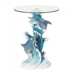 Accent Plus 38425 Playful Dolphins Accent Table